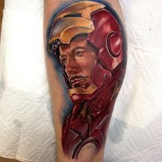 Solid Iron Man Tattoo by Kris Busching