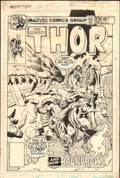 The cover to THOR #278 by John Buscema and Bob McLeod.