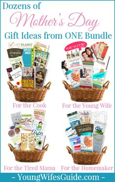 Dozens of Mother's Day Gift Ideas from ONE Bundle! I seriously can't stop thinking of more gift basket ideas - this is awesome!