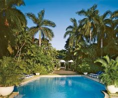 """""""We made the pool quite a bit bigger,"""" remarks Ricky Lauren, """"and put in a lot of plantings as well."""""""