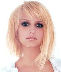 ashlee simpson medium hair   Ashlee Simpson - HairFad Short Emo Hair Style Icon 02