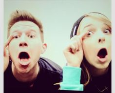 Ricky Dillon and Jennxpenn mascara faces