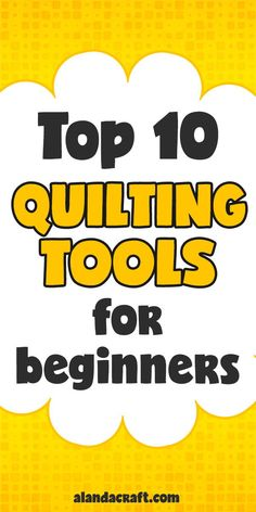Top 10 Quilting Tools for Beginners - If you are fairly new to the world of quilting then you may be wondering what quilting tools are the best to purchase. Here is a list of the 10 most commonly used quilting tools to get you started. Machine Quilting Patterns, Quilting Tools, Quilting Tutorials, Quilting Projects, Quilting Designs, Quilt Patterns, Sewing Patterns, Free Motion Quilting, Hand Quilting