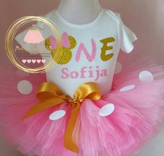 Check out this item in my Etsy shop https://www.etsy.com/ca/listing/291386617/pink-and-gold-minnie-mouse-birthday