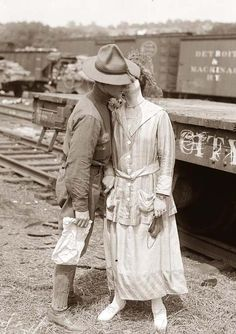 Soldier's Goodbye Kiss in World War I