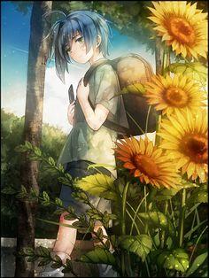 #anime #sunflowers