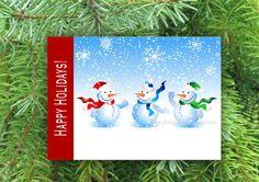 New Design!  Holiday Card  Snowmen by JLOriginalDesigns on Etsy, $10.00