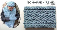 Tutoriel en PDF Echarpe Irene à télécharger gratuitement. Un document simple qui explique comment tricoter facilement une jolie écharpe en utilisant les torsades et les zigzag. Vous trouverez toutes les étapes à suivre ainsi les fournitures et les explications.