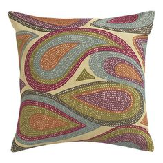 paisley pillow...this inspires me to paint something like it....