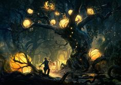 ARTIST OF THE DAY: Tuomas Korpi, Finland, http://www.artstation.com/artist/korpi Awesome atmospheric #conceptart - we <3 the lanterns! www.pencilkings.com