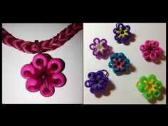 ▶ BEADED FLOWER CHARM for the Rainbow Loom - Made by Mommy - YouTube
