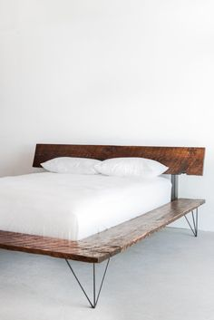 Reclaimed Wood Platform Bed Frame handmade sustainably in