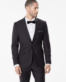 Miles black wool-blend blazer - Regular. RW & Co, Kingsway Mall