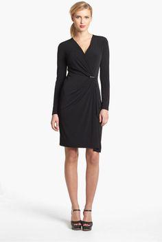 Michael Michael Kors Faux Wrap Dress in Black