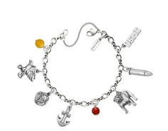 USMC themed bracelet, james avery www.jamesavery.com