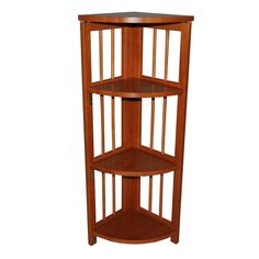 Home Star Products Espresso Corner Ladder Bookcase Shelves