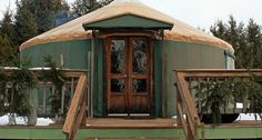 The Namekagon Waters Retreat in tiny Trego, just north of Spooner in northwestern Wisconsin, is a single yurt run by Kathy and Jim Shattuck.
