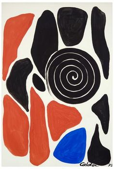 Alexander Calder, Untitled - In addition to sculptures, Calder painted throughout his career, beginning in the early He picked up his study of printmaking in and continued to produce illustrations for books and journals. Alexander Calder, Avant Garde Artists, Collages, Kinetic Art, Art Graphique, Les Oeuvres, Modern Art, Illustration Art, Illustrations