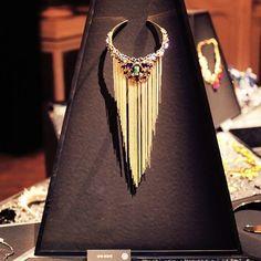 #Albane necklace made for #swarovski120anniversary !  #uneligneparis #necklace #highjewelry #jewelrygram #jewelrygram #swarovskicrystals #paris #handmade #chains
