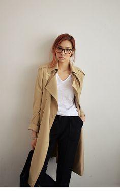 クラシックトレンチコート(ベージュ)- 韓国ファッション通販|coco-closetココクローゼット