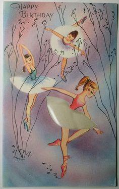 Mid Century  Ballerinas w/Satin Tutus!
