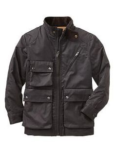 Waxed moto jacket | Gap