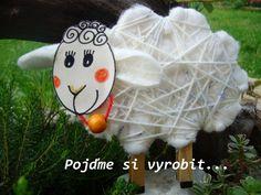 Kreativní sada - dvě ovečky dekorace děti ovečka tvoření kreativní sada tvoření s dětmi kreativní set