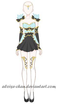 [OPEN] NEW Ice Armour Adoptable by Aloise-chan.deviantart.com on @DeviantArt