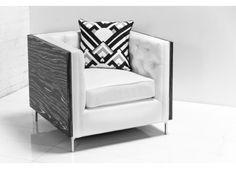 Koenig / 007 Black and White Macassar Arm Chair | ModShop