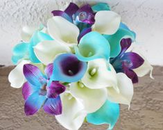 blue orchid wedding bouquet ideas - Google Search