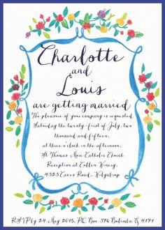 French-inspired wedding invitations and stationery by the Couture Card Company Wedding Stationery, Wedding Invitations, French Flowers, Wedding Inspiration, Design Inspiration, Card Companies, Watercolor Rose, Rose Design, Love Letters