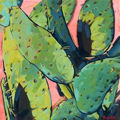 CACTUS FEVER | Acrylic | Copyright © 2016 Carol Bold cactus, painting, desert, southwest, art, impressionism, fauvism, colorist