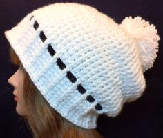 Arctic Hat - Crocheted Slouchy Winter Hat With Pompom on Etsy,
