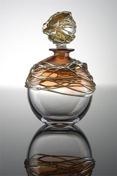 Title: Golden Trail Scent Bottle Description: Blown Glass Artist: Allister Malcolm