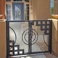 Every Iron & Wood Gate from First Impression Ironworks is designed to provide security and beauty to your home, and […] Safety Gates, Gates And Railings, Side Gates, Security Doors, Double Gate, Gate Ideas, Wrought Iron Gates, Iron Doors, Southwestern Style