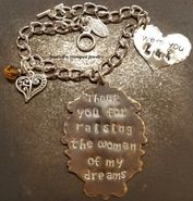 Shop our most popular Thank you for raising the man of my dreams collection by Southern Stamped Jewelry. They make the perfect gift! Hand Stamped Metal, Hand Stamped Jewelry, Personalised Gifts For Him, Personalized Jewelry, Metal Jewelry, Pendant Jewelry, Mother In Law Gifts, Chain Pendants, Metal Stamping