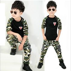 >> Click to Buy << 2016 New Camouflage Kids Clothing Set for Boys & Girls Spring & Autumn Cotton Camo Boys Sports Set Active Girls Tracksuit, C019 #Affiliate