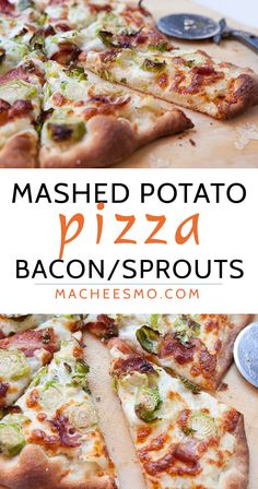 Mashed Potato Pizza: Roasted garlic mashed potatoes with sprouts and bacon makes for one of the best pizzas out there. You'll never miss the tomato sauce! Be sure to check out the post for my trick to super-crispy Brussels sprouts.