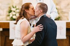 Lauren and Andrew's sweet and intimate metallic Chicago Wedding by Two Birds Photography