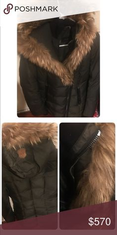 Mackage Coat Mackage is still the hottest and latest fashion Coat out ... its has been worn and is still in Good condition . As shown in the pic on the top of Coat it was left on a radiator at a friend house and stain the zipper part :-( . Other than that the Coat is still Good to wear and I am willing to negotiate. Winter is approaching soon keep in mind ! Mackage Jackets & Coats Puffers