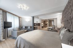 Das Central - Solden, Austria Stunningly located in the majestic Tyrolean Alps, Das Central is a Sölden hotel with superb accommodation, an exquisite spa, and exceptional cuisine. Austria, Bed, Furniture, Hotels, Holidays, Home Decor, Family Vacations, Luxury, Holidays Events