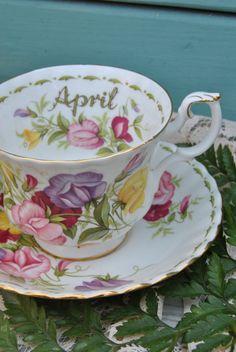 ROYAL ALBERT Flower of the Month April Poppy by HoneyandBumble, $21.00