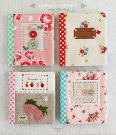 Lovely needlebooks with link to tutorial