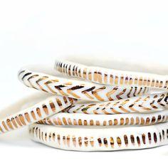 Copper Arrows Ceramic Bangle