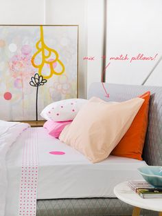rachel castle // mix and match pillows