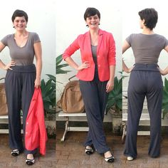 LEILA DINIZ *blog: →Look 1: calça de ioga que uso como social + casaq...