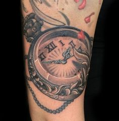 images of pocket watch tattoos | Pocket Watch tattoo