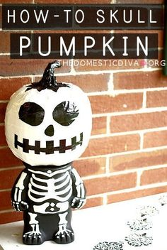The Domestic Diva » Decorate a Halloween Pumpkin with Duck Tape