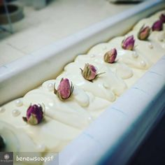 #bubblelove from @benewsoapsf - Something pretty is coming soon. Smells like floral goodness in the soap room. #wetsoap #vegan #florallove #rosebuds #cpsoap #naturalsoap #benewsoapsf #sfmade #handmade - #4theloveofbubbles