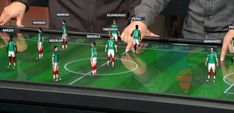 The touch table allows presenters to analyze plays and discuss team strategies. Interactive Table, Interactive Design, Indianapolis Colts, Football Analysis, Brazil World Cup, World Cup Match, Virtual Studio, Modelos 3d, The Spectator